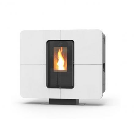 Stufa a Pelle idro termostufa a pellet Thermorossi Slimquadro Idra Pellet Idro