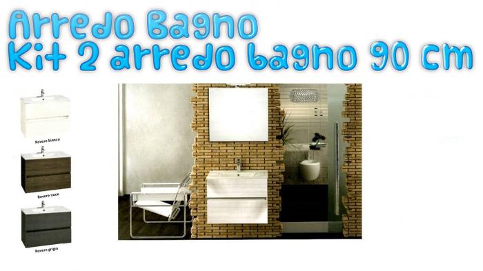 Mobili Bagno In Kit.Arredo Bagno Kit 2 Arredo Bagno 90 Cm Sos Clima