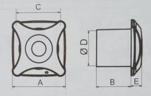 Misure aspiratore elettrico LUXURY