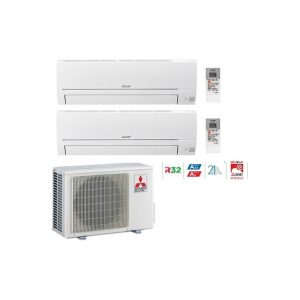 climatizzatore-condizionatore-mitsubishi-dual-msz-hr-9000+12000-btu-mxz-2ha50vf-r32